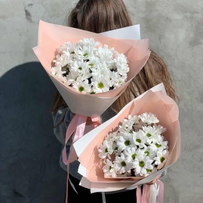 Букет 7 веток хризантемы ромашковой R1780